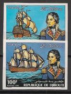 Djibouti - 1981 - N°Yv. 537 à 538 - Amiral Nelson - Non Dentelé / Imperf. - Neuf Luxe ** / MNH / Postfrisch - Djibouti (1977-...)
