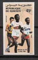 Djibouti - 1984 - N°Yv. 590 - Olympics / Running - Non Dentelé / Imperf. - Neuf Luxe ** / MNH / Postfrisch - Djibouti (1977-...)