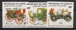 Djibouti - 1984 - N°Yv. 591 à 593 - Autos / Old Cars - Non Dentelé / Imperf. - Neuf Luxe ** / MNH / Postfrisch - Djibouti (1977-...)