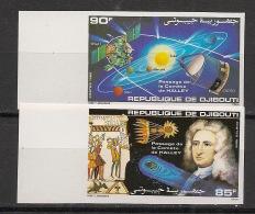 Djibouti - 1986 - N°Yv. 616 à 617 - Comète De Halley - Non Dentelé / Imperf. - Neuf Luxe ** / MNH / Postfrisch - Space