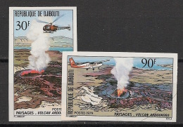 Djibouti - 1979 - N°Yv. 497 à 498 - Volcan / Volcano - Non Dentelé / Imperf. - Neuf Luxe ** / MNH / Postfrisch - Djibouti (1977-...)