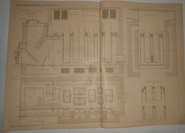 Plan Du Calorifère Isotherme. Système Ch. Bourdon. 1891. - Travaux Publics