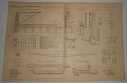 Plan Du Réservoir De Torcy Neuf Pour L'alimentation Du Canal Du Centre. 1891. - Public Works