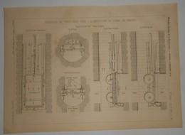 Plan Du Réservoir De Torcy Neuf Pour L'alimentation Du Canal Du Centre. 1891. - Travaux Publics