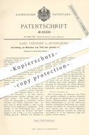 Original Patent - Carl Theissen , Düsseldorf  1891 , Matratze , Matratzen | Bett , Krankenbett , OP , Arzt , Krankenhaus - Historische Dokumente