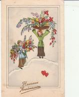 Fétes : Heureux Anniversaire : ( Enfants Portant Des Fleurs ) - Cumpleaños