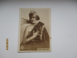ESTONIA 1920s TOBACCO CARD , MOVIE STAR HANNI WEISSE , 0 - Objets Publicitaires