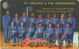 St. Vincent & The Grenadines - STV-243B, GPT, 243CSVB, Netball Team 1995, Sports, 20 EC$, 15.000ex, 1998, Used - San Vicente Y Las Granadinas