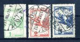 1926-30 UNGHERIA PA N.21/23 USATI - Posta Aerea