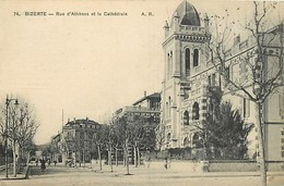 Pays Div : Ref M177- Tunisie - Bizerte - Rue D Athenes - Athens  Et La Cathedrale  - Carte Bon Etat  - - Tunisie