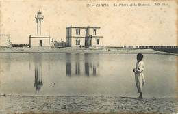 Pays Div : Ref M176- Tunisie -zarzis - Le Phare Et La Douane -theme Phares /- Etat : Petites Et Legeres Taches - - Tunisie