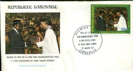 FDC Rép. Gabonaise : Remise Du Prix De La Paix Dag Hammarskjold 1986 à Omar Bongo - Libreville 31 Mars 1987 - Gabon