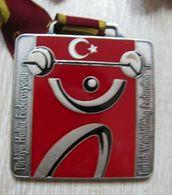 AC - TURKISH WEIGHTLIFTING FEDERATION SILVER MEDAL - MEDALLION - Sports