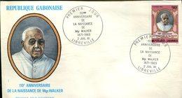 FDC Rép. Gabonaise : 110éme Anniversaire De La Naissance De Mgr Walker - Libreville 2 Juillet 1981 - Gabon