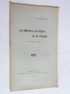 Les Menhirs De Villars Et De Thède  Dr G.CHARVILHAT  1910 Dédicace Rare Puy-de-Dôme - Books, Magazines, Comics