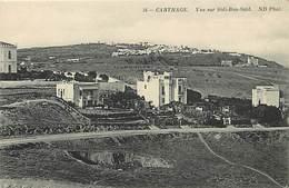 Pays Div : Ref M172- Tunisie - Carthage - Vue Sur Sidi Bou Said - Nd Phot - Carte Bon Etat - - Tunisie