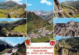 1 AK Österreich * Stuben Am Arlberg, St. Anton Am Arlberg, Arlbergstraße, St. Christoph, Flexenstraße, Trisannabrücke * - St. Anton Am Arlberg