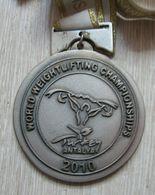 AC - WORLD WEIGHTLIFTING CHAMPIONSHIP 2010 ANTALYA, TURKEY SILVER MEDAL - MEDALLION - Sports