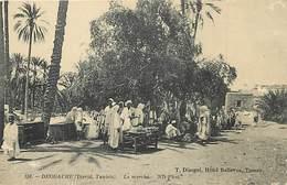 Pays Div : Ref M169- Tunisie - Deggache - Djerid - Le Marché   - Carte Bon Etat - - Tunisie
