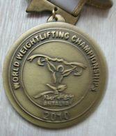 AC - WORLD WEIGHTLIFTING CHAMPIONSHIP 2010 ANTALYA, TURKEY BRONZE MEDAL - MEDALLION - Sports