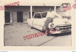 Au Plus Rapide Beau Format 9 Par 13.5 Cm Voiture Ancienne Cadillac Cannes Pâques 1961 Très Bon état - Cars