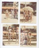LOT DE 5 PHOTOS KODAK 1970  ---FEMMES MAILLOTS DE BAINS  --RECTO/VERSO- B26 - Anonymous Persons
