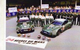 24 Heures Du Mans 2007  -  Equipe Aston Martin DBR9  -  Carte Moderne  - CPM - Le Mans