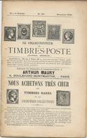 14 FASCICULES LE COLLECTIONNEUR DE TIMBRES POSTE ARTHUR MAURY ENTRE 1896 ET 1902 - Philately And Postal History
