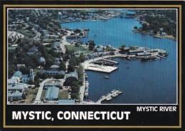 Connecticut Mystic Aerial View Mystic River - United States
