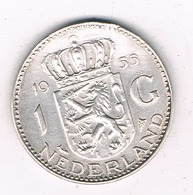 1 GULDEN  1955 NEDERLAND /4676G/ - [ 3] 1815-… : Kingdom Of The Netherlands