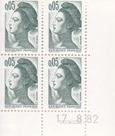N° 2178 / 2179 / 2181 / 2182 / 2184 Ensemble De 5 Coins Datés En Timbres Neufs Liberté - 1980-1989