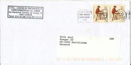 Portugal Cover Sent To Denmark Lisboa 27-10-1999 - Cartas