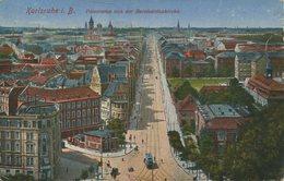 004999  Karlsruhe - Panorama Von Der Bernharduskirche  1925 - Karlsruhe