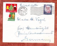 Drucksache, EF Freiheitsstatue, Vignetten, Washington Nach Hamburg 1954 (55881) - Lettres & Documents