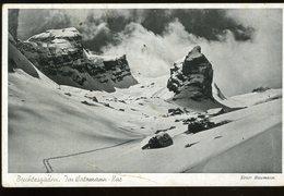 Berchtesgaden Im Watzimann Kar Ernst Baumann 1942 Coupure Sur Le Bord Supérieur An Der Oberen Kante Schneiden - Berchtesgaden