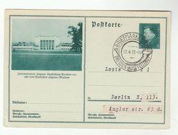 1933 Dresden GERMAN HYGIENE MUSEUM  Illus POSTAL STATIONERY CARD  Health Stamp Exhibition EVENT Pmk Germany Cover - Medicine