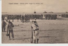 446-Tripoli-Libia-Africa-ex Colonie Italiane-Militaria-Guerra Italo-Turca-Sbarco Delle  Truppe 11 Ottobre 1911 - Libya