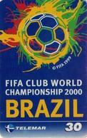 TARJETA TELEFONICA DE BRASIL (FUTBOL, FIFA CLUB WORLD CHAMPIONSHIP 2000 BRAZIL, 01-01/00). (471) - Brasil