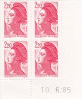 N° 2376 Coin Daté En Timbres Neufs Liberté 10/06/85 - 1980-1989