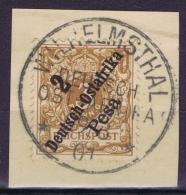 Deutsch Ostafrika Mi 6 Obl./Gestempelt/used  WILHELMSTHAL Signed/ Signé/signiert/ Approvato Pfenniger - Colonie: Afrique Orientale