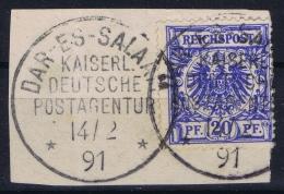 Deutsch Ostafrika DAR-ES-SALAAM Vorlaufer VO 48  CDS Nr 9 On Fragment - Colony: German East Africa