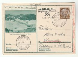 1938 WALDENBURG  To CHEMNITZ Redirected  OPPELIN  (postcard Waldenburg) Germany Stamps Cover - Alemania