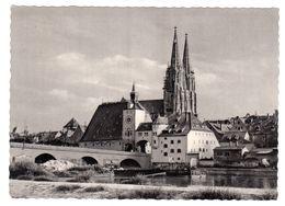 Regensburg, Steinerne Brücke Und Dom, Gelaufen 1963 - Regensburg