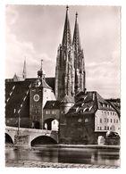 Regensburg, Steinerne Brücke Und Dom, Gelaufen - Regensburg