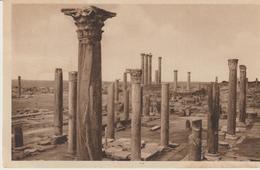 454-Leptis Magna-Libia-Africa-ex Colonie Italiane-Archeologia.-Colonne Corinzie-Storia Postale 20c.Sibilla - Libya