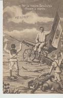 457-Tripoli-Libia-Africa-Ex Colonia-Guerra Italo Turca-Per La Nostra -Bandiera-v.1912 X Diana-Messina - Libya