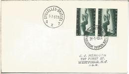BELGICA CC CON MAT BASE ANTARTICA BELGA 1961 ANTARCTIC STATION SOUTH POLE - Estaciones Científicas