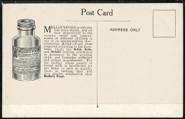 RB 1217 -  Early Advertising Postcard - Mellin's Food For Children - Religion Art Theme - Advertising
