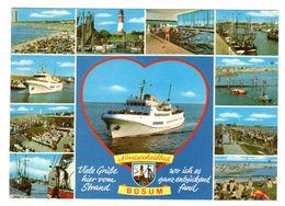 Büsum Mehrbild Schiff , Gelaufen 1982 - Buesum