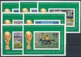 Soccer Football Sao Tome E Principe Bl 25/31 Black Ovpt 1978 World Cup Argentina MNH ** - Coupe Du Monde